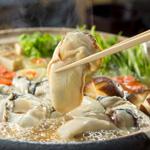 牡蠣とホタテ鍋